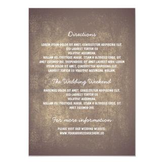 Detalles rústicos del boda invitación 11,4 x 15,8 cm