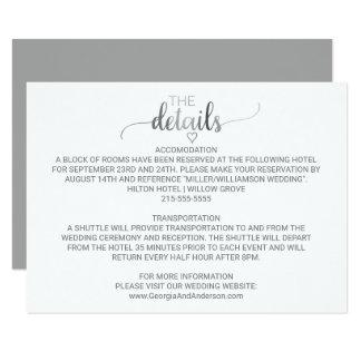 Detalles simples del boda de la caligrafía de la invitación 8,9 x 12,7 cm