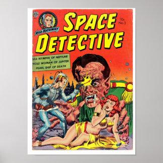 Detective del espacio del arte cómico de la época poster