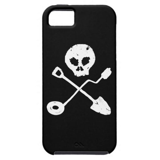 Detectorist Skull - Sondengänger cráneo iPhone 5 Cárcasas