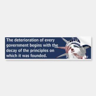 Deterioro del gobierno (Montesquieu) Pegatina Para Coche