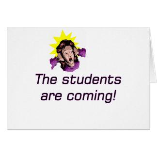 detrás en copia de la escuela tarjeta de felicitación