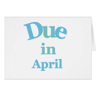 Deuda del azul en abril tarjeta de felicitación