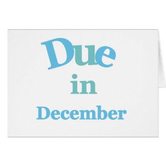 Deuda del azul en diciembre tarjeta de felicitación