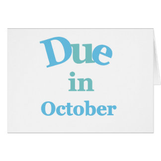 Deuda del azul en octubre tarjeta de felicitación