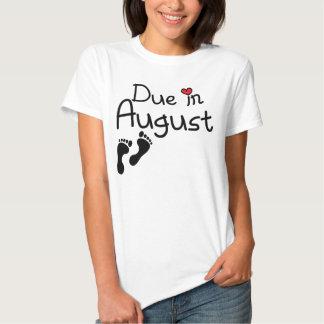 Deuda en agosto camisetas