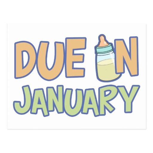 Deuda en enero tarjeta postal