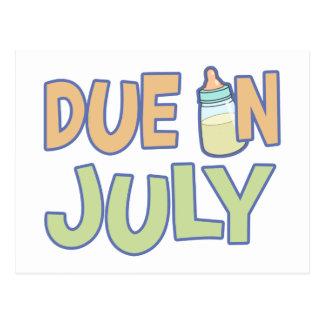 Deuda en julio postales