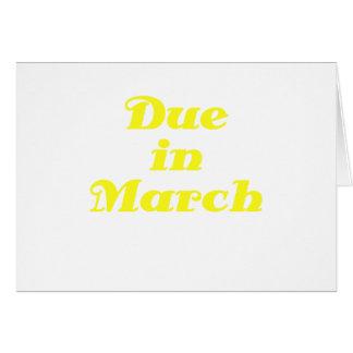 Deuda en marzo tarjeta