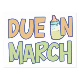 Deuda en marzo tarjetas postales