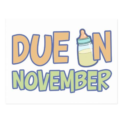 Deuda en noviembre postales