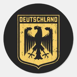 Deutschland Eagle - escudo de armas alemán Pegatinas Redondas