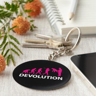 Devolution Evolution Funny Reissue Llavero