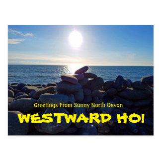 ¡Devon del norte hacia el oeste Ho! postal