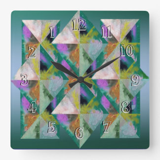 Devuelva el remiendo de las Reloj-Prismas del Reloj Cuadrado