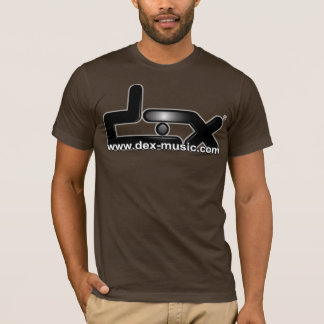 DEX MUSIC OFFICIAL T-SHIRT BROWN CAMISETA