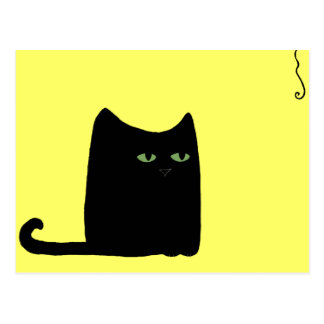 Dexter la postal gorda del gato negro