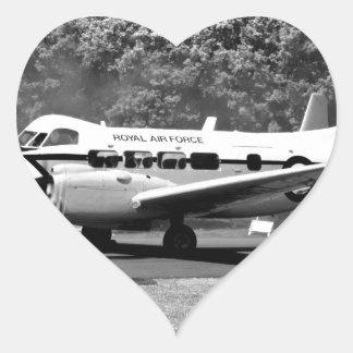 DH-104 Devon Pegatina En Forma De Corazón