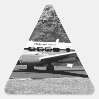 DH-104 Devon Pegatina Triangular