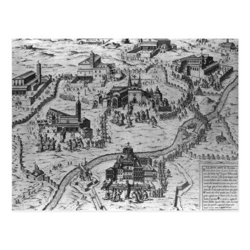 Di Roma, 1575 de Le Sette Chiesa Tarjeta Postal