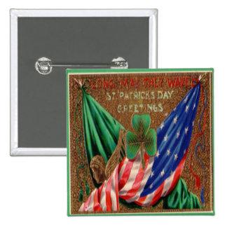 Día 12 del St Patricks del vintage Chapa Cuadrada