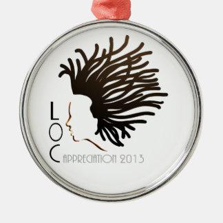 Día 2013 del aprecio del LOC Adorno Redondo Plateado
