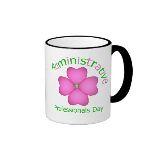 Día administrativo de los profesionales del arte d tazas de café