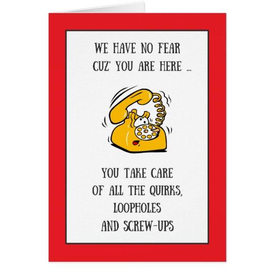 Día administrativo de los profesionales del tarjeta de felicitación