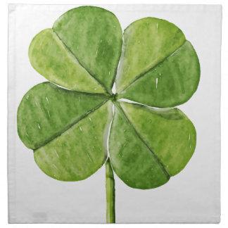 Día afortunado verde de San Patricio del trébol Servilleta De Tela