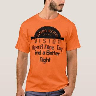 Día anaranjado básico de Vision Kenia de los Camiseta