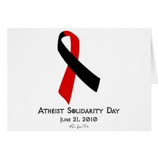 Día ateo de la solidaridad tarjetón