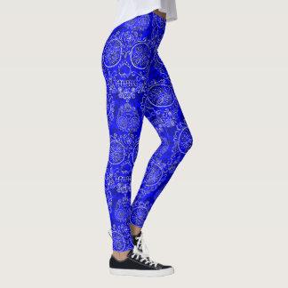 Día azul de los muertos leggings