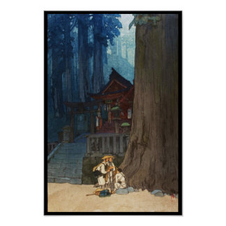 Día brumoso en arte del woodblock de Nikko Hiroshi