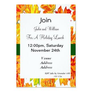 Día de Acción de Gracias, calabaza, calabaza, Invitación 12,7 X 17,8 Cm