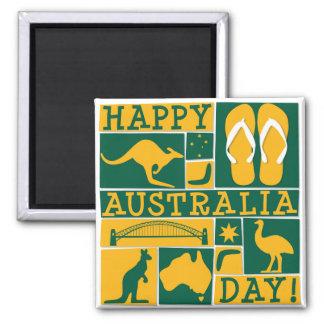 Día de Australia Imán