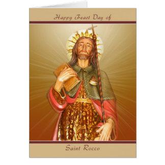 Día de banquete de Rocco del santo - tarjeta de