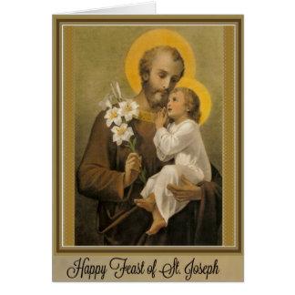 Día de banquete San José tarjeta del 19 de marzo