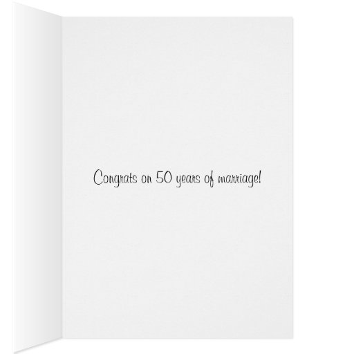 Día de boda, Congrats en 50 años de boda Felicitación