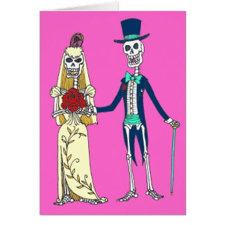 Día de boda de la tarjeta de felicitación muerta