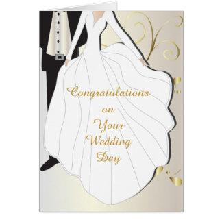 Día de boda hermoso tarjeta de felicitación