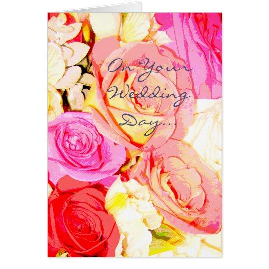 Día de boda - tarjeta