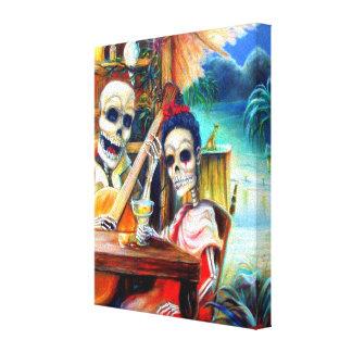 Día de Borracha del La de los muertos Impresión En Lienzo Estirada