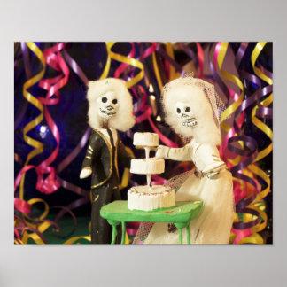 Día de Bride_Groom del boda muerto Póster