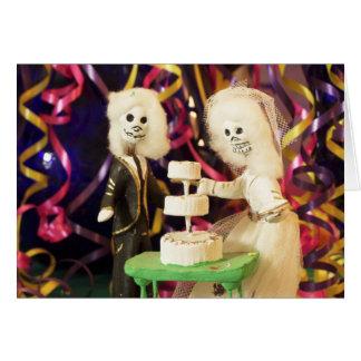 Día de Bride_Groom del boda muerto Tarjeta De Felicitación