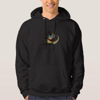 día de diseño del vector que practica surf suéter con capucha