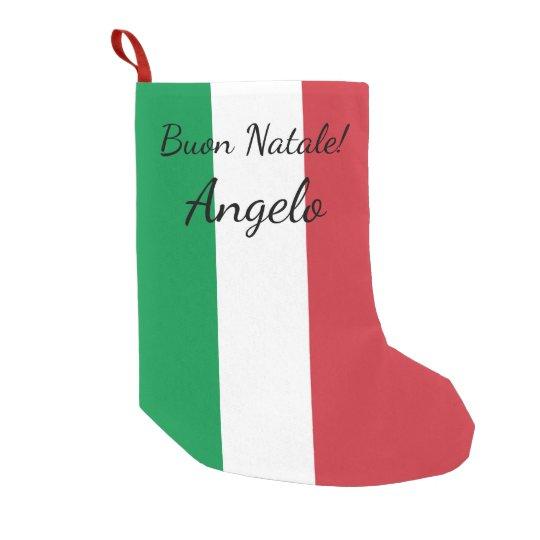 Día de fiesta conocido personalizado bandera calcetín de navidad pequeño