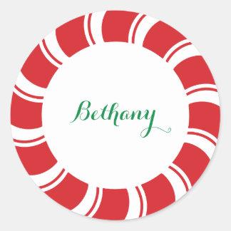 Día de fiesta de encargo redondo del navidad de pegatina redonda