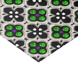 Día de fiesta de plata y verde Bling Papel De Seda
