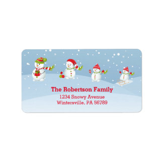 Día de fiesta del navidad de la familia el | del etiquetas de dirección