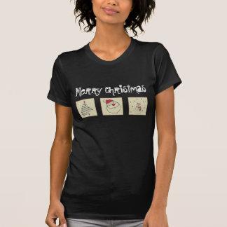Día de fiesta divertido lindo de moda del remiendo camisetas